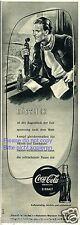 COCA COLA pubblicità con loghi di 1952 SPORT reporter reporter stadio Pubblicità COCA COLA ad