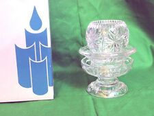 Partylite Salzburg 3pc Candle Holder Set 24% Lead Crystal Pillar Taper Votive