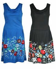 Cowl Neck Party Floral Dresses for Women