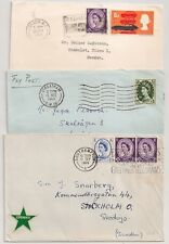 3 COVERS ROYAUME UNI UNITED KINGDOM STREATHAM SOUTHAMPTON LONDON TO SWEDEN. L645
