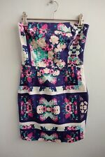 Isla by Talulah Floral & Geometric Strapless Mini Dress sz XS