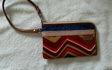 Fossil Zippered Wristlet, Brown, Multicolored,Small purse with credit Card slots