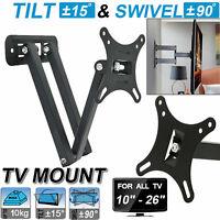 Tilt Swivel TV Wall Mount Bracket For 10 15 20 22 25 26 Inches 3D LED LCD Plasma