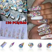 Nail Glitter Nail  Rhinestone  Art  Crystal  3D AB Diamond Gems  Decoration