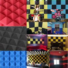 1x DIY Sound Insulation Wall Sticker Acoustic Soundproof Foam Sponge Blue Panels