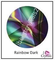 RAINBOW DARK 7ss 2mm 144 pieces Swarovski Flatback Crystal Rhinestones 2058 NEW
