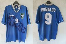 Maillot BRÉSIL BRASIL 1995 RONALDO n°9 UMBRO shirt trikot jersey vintage L