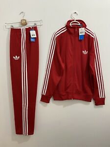 Adidas Originals ADI-Firebird Tracksuit Red White Size L