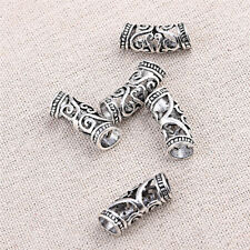 5pcs Hair Braid Dread Dreadlock Beads Alloy Jewelry Hollow Cuff Clips Unisex