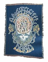 Grateful Dead American Beauty Fare Type Flow Woven Throw Blanket New Official