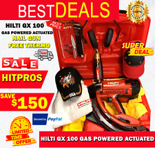Hilti Gx 100 Gas Powered Actuated Nail Gun Preowned Free Thermo Fast Ship
