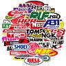 Assortment Set Lot of 100 Racing Decals Stickers Body Bumper Helmet Vinyl Decal