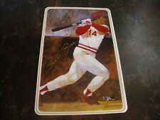 Pete Rose---Autographed Ceramic Card---By Gartlan USA---COA On Reverse---Mint