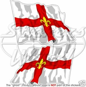 CITY OF LINCOLN County Wehende Flagge ENGLAND Fahne 120mm Sticker Aufkleber x2