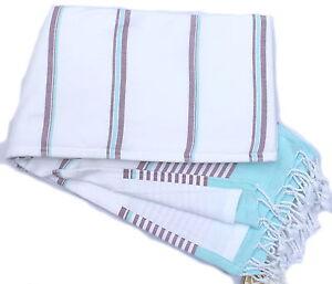Extra large beach towel (Turkish peshtemal & terry)  - 100% o. cotton - QUALITY