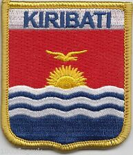 Kiribati Flag Shield Embroidered Patch Badge