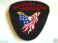 SUPPORT OUR TROOPS Military Veteran Heros Patch D