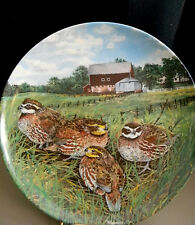 """""""The Quail"""" Collector Plate by Wayne Anderson 1987 With Original Box"""