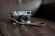 Handmade Real Leather wrist camera strap for vintage film EVIL camera Dark Brown