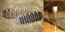 Leather vial holder to be put on a belt, perfect for costume and LARP, GN