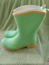 "Sanita Women's Rain Boots Sz 10.5M Light Green Yellow Top ""Jolly Green Giant"" Lk"