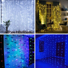300/600 LED Garden Fairy Wall Wedding Hanging Curtain Window String Lights 3M 6M