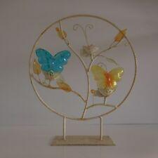 Sculpture bougeoir chandelier métal verre art nouveau vintage art-déco fait main