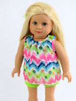 "Bright Lace Short Set Fits 18"" American Girl Doll Clothes"