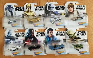 Hot Wheels Star Wars Character Cars 40TH Empire Strikes Back Complete Set of x8