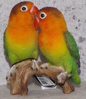 Papageien Unzertrennliche Vögel 13*11*8cm Dekofigur Deko Tier Polyresien