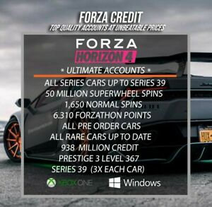 Forza Horizon 4 Modded Accounts Series 39 ONLINE ACCOUNT (USA ASWELL)