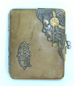 SUPERB 1920s AUSTRIAN ARTS & CRAFTS STYLE LEATHER LADIES PURSE or WALLET
