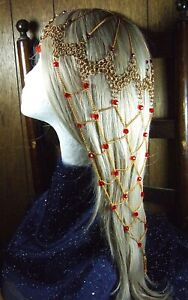 Game of Thrones Red Chainmail Headdress Dark Crystal Vikings Steampunk Pirate