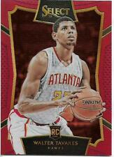 2015-16 SELECT RED PRIZM #70 WALTER TAVARES RC JERSEY # 22/149 HAWKS FREE SHIP