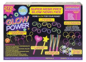 Halloween 272 Piece Glow Power Super Mega Neon Glow Stick Stix Party Pack 615053