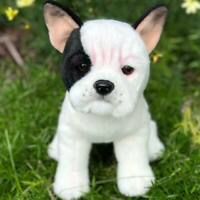 Auswella Plush Izzy Our White+Black French Bulldog-Plush Frenchie Stuffed Animal