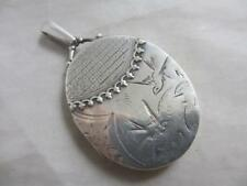 Aesthetic sterling silver swallow double pendant locket Victorian style tbj02787