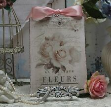 "~ ""FLEURS"" Vintage Shabby ~ Country ~ Cottage~Chic style~Wall/Door Décor  Sign ~"