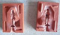 Unique Vintage Rubber Figurine Mold - Girl on Skates SR 219