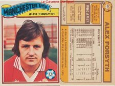 332 ALEX FORSYTH # SCOTLAND MANCHESTER UNITED CARD PREMIER LEAGUE TOPPS 1978