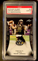 GRADED 10 | Trevor Lawrence 2018 Leaf US Army All-American Bowl Clemson Tigers
