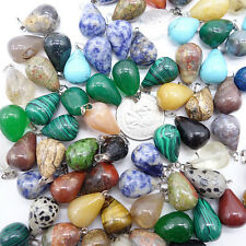 Natural Gemstone Reiki Chakra Pendant Various Shapes Beads Stone Jewelry DIY