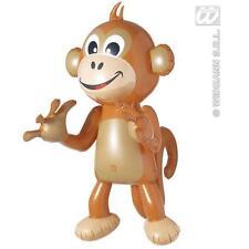 Large Brown Inflatable Monkey Chimp Ape 50cm Tall Jungle Tarzan Fancy Dress Prop