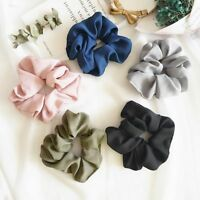 Hair Scrunchie Sports Dance Lady Pure Color Trendy Ring Elastic Bobble Scrunchie