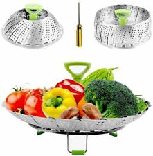 Steamers for Cooking Stainless Steel Vegetable Steamers Basket, Folding Steamer