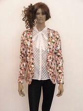 Unbranded Cotton Blend Floral Blazers Women's Coats & Jackets