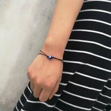 Fashion Charm Blue Evil Eye Bangle Braided Adjustable Bracelets Jewellery Gift