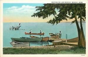 Minnesota, MN, Bemidji, Boating on Lake Bemidji 1930's Postcard