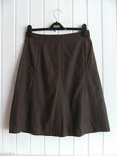 LADIES LOVELY BROWN LINEN-MIX SUMMER SKIRT BY JASPER CONRAN JEANS - SIZE 10