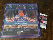 Dennis Deyoung Styx Signed Album Cover W/ Vinyl JSA COA STYX BAND